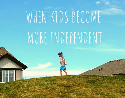 independent kid on a hill